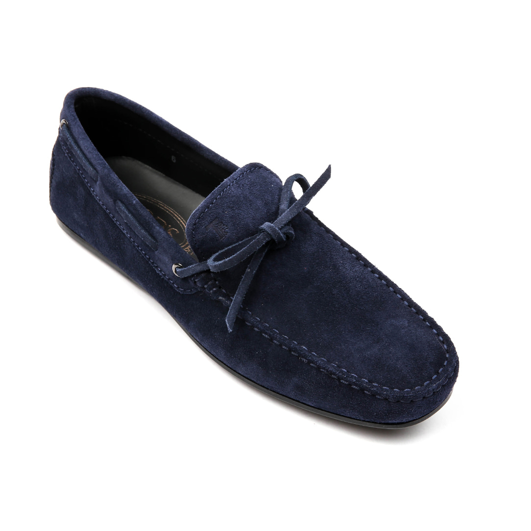 Laccetto city gommino Suede Driving Shoes (Navy)