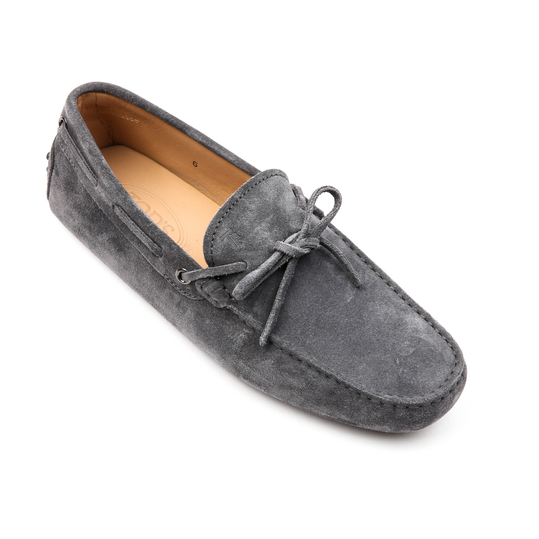 Laccetto city gommino Suede Driving Shoes (Gray)