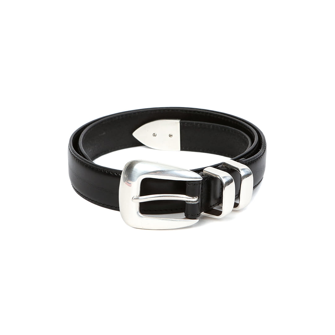 Black Vagetable Leather Belt