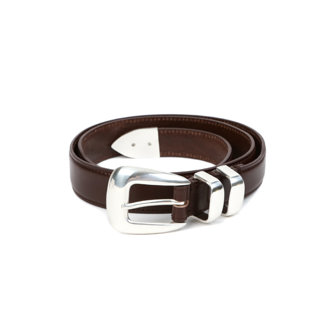 Brown Vagetable Leather Belt