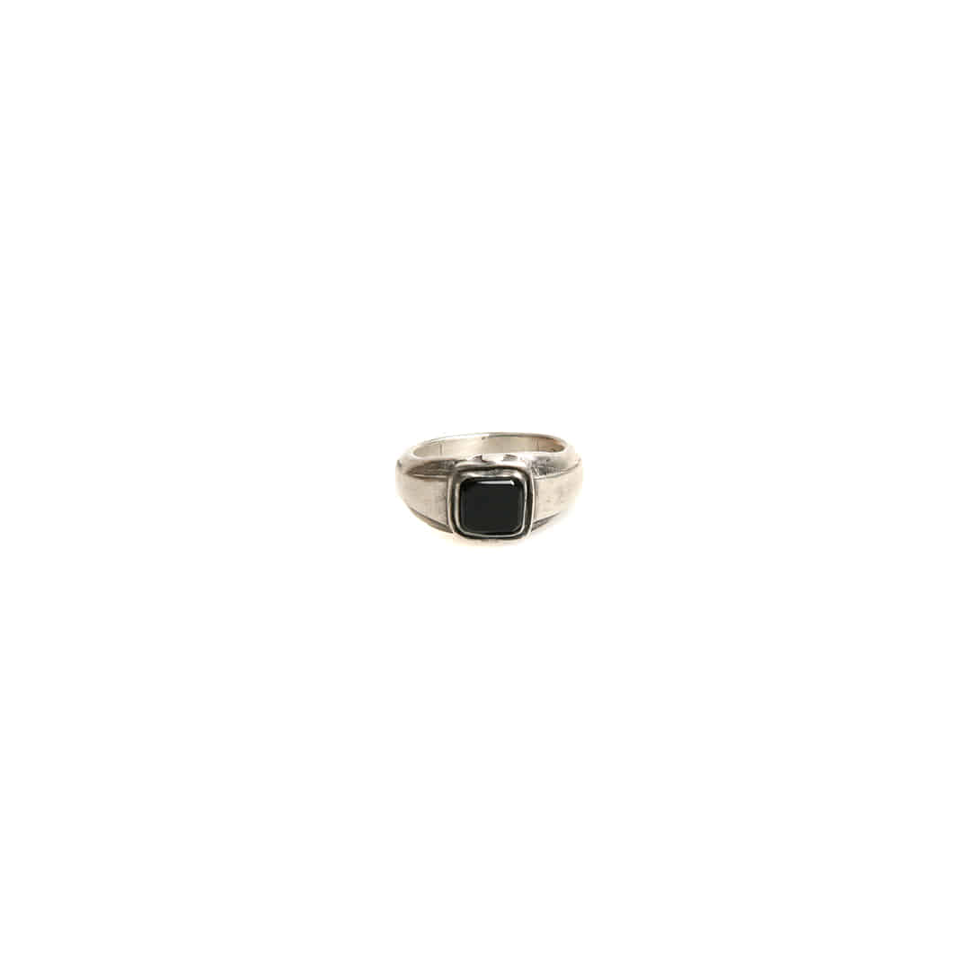 Vintage Onyx Silver Ring