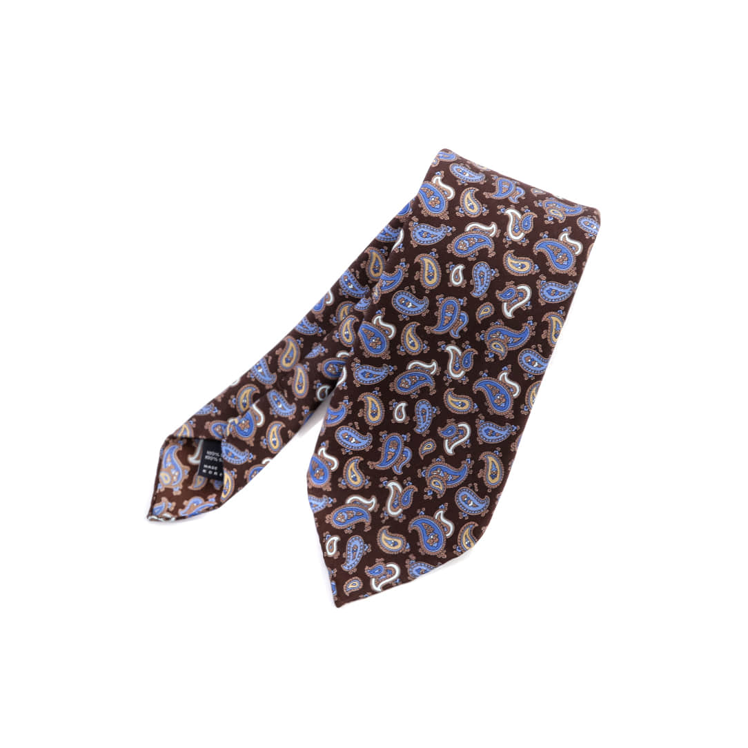 Small Brown Paisley Tie