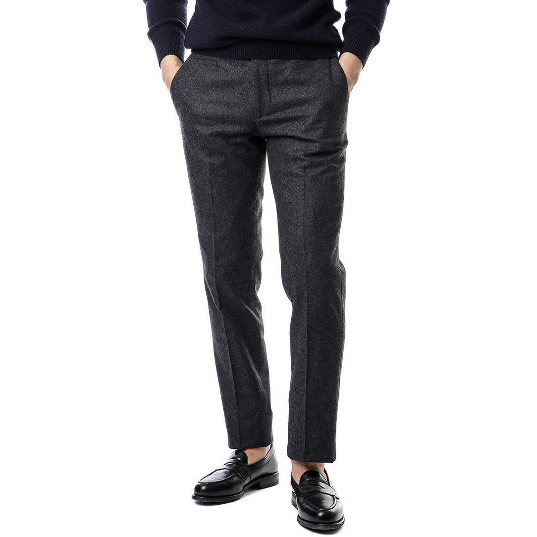 Officina Marlane Dark Gray Flannel Pants