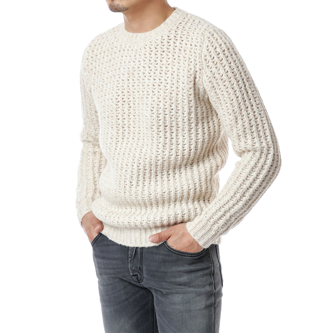 Ivory Moss Mohair Knit