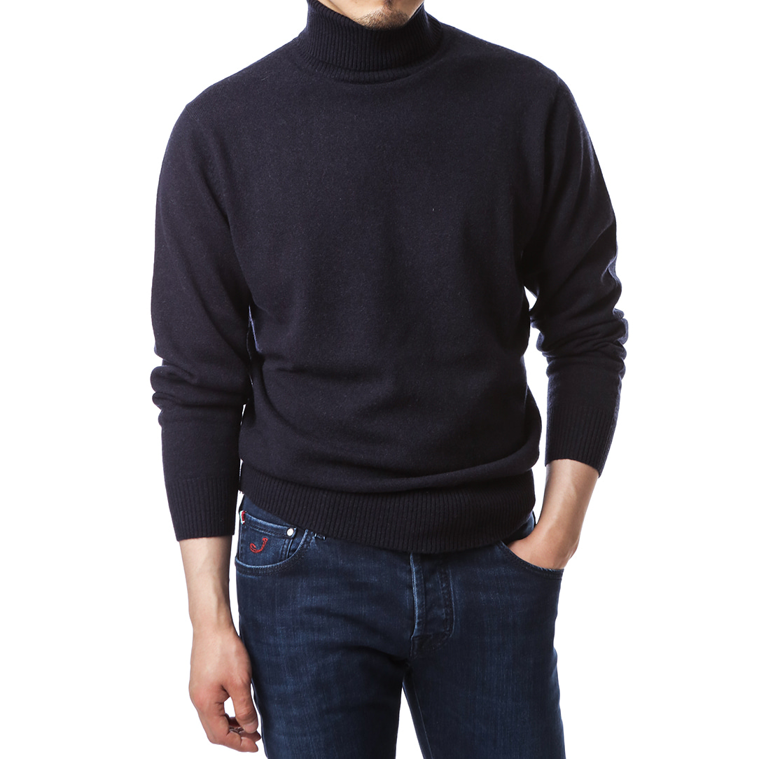 Purity Navy Turtleneck