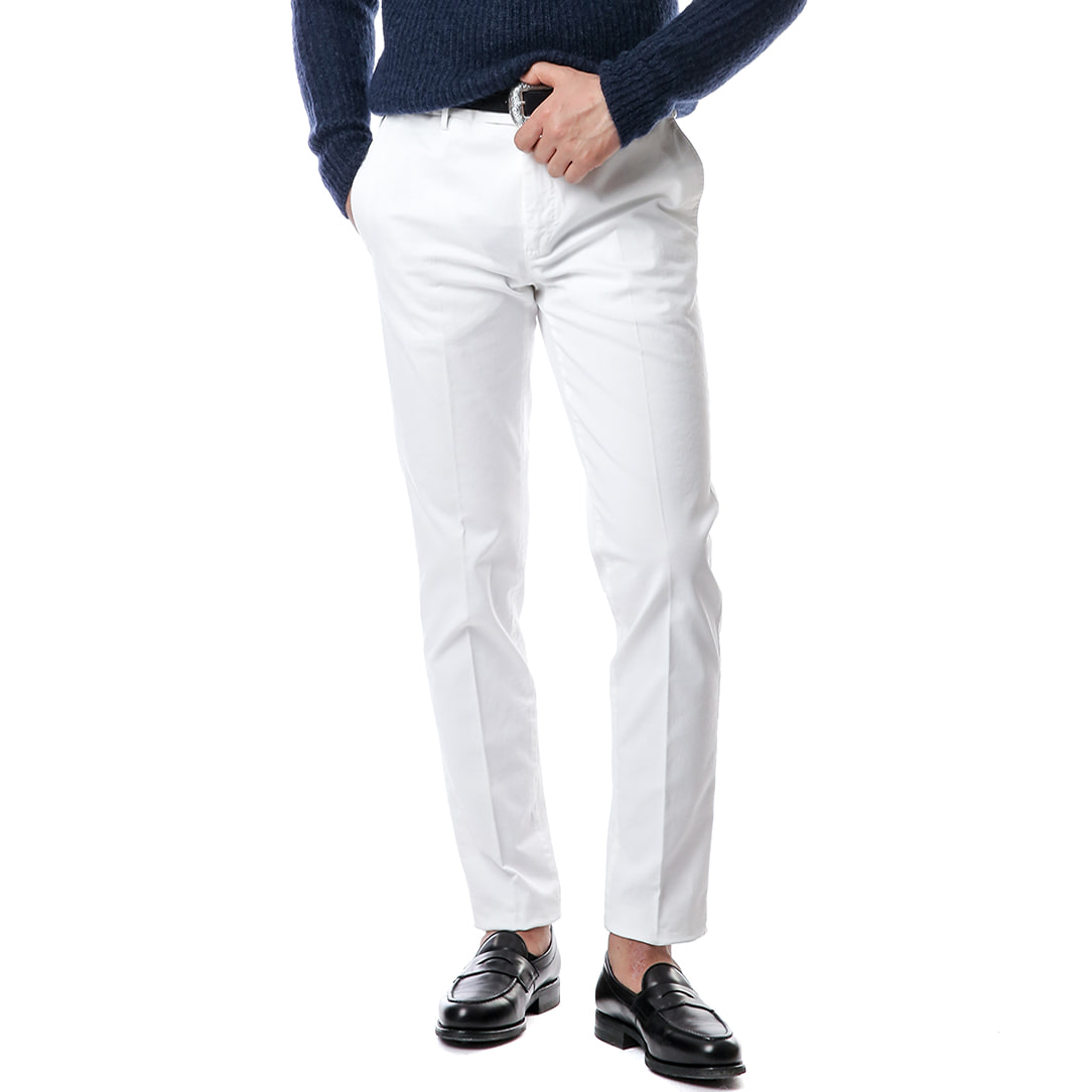 Welton Skinny Stretch Pants (White)