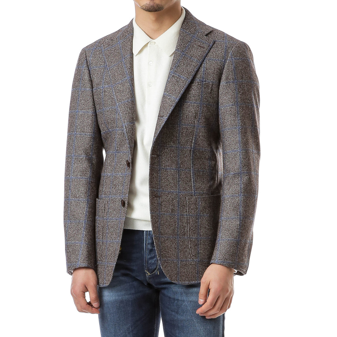 Hound Tooth Blue Windowpane Jacket