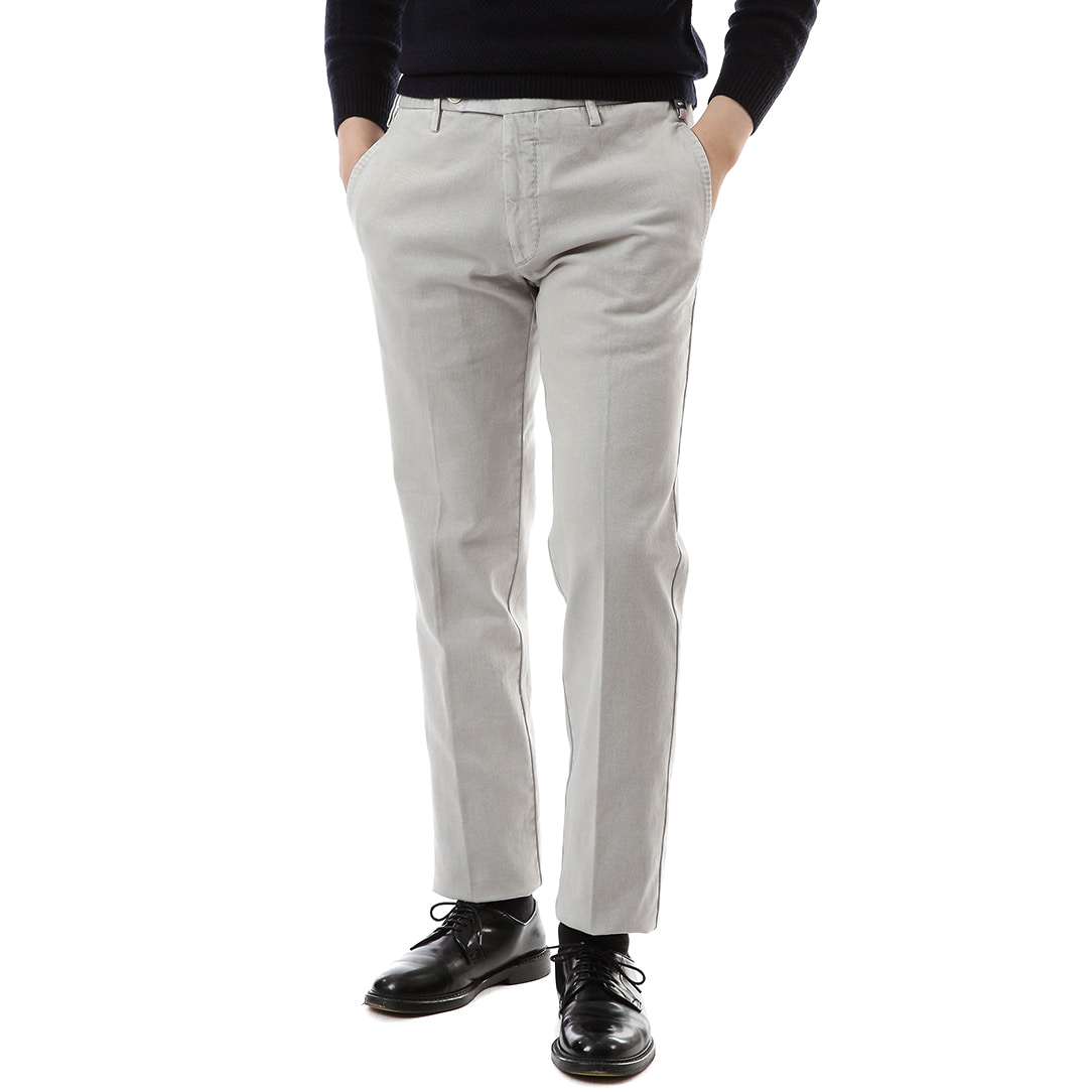 Light Gray Pliant Chino Pants