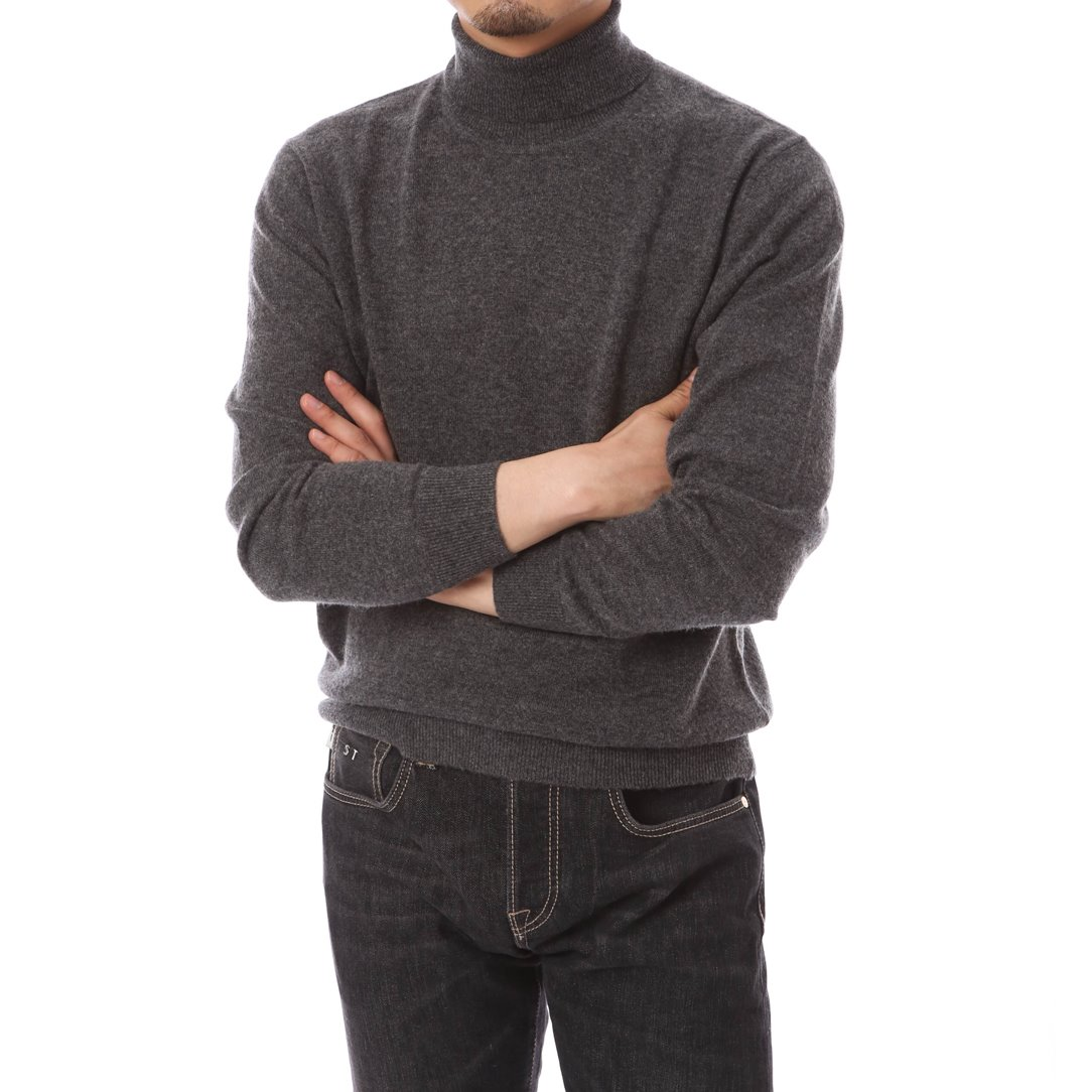 Cashmere Blended Turtleneck Knit Gray