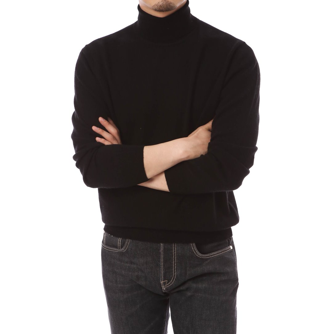 Cashmere Blended Turtleneck Knit Black