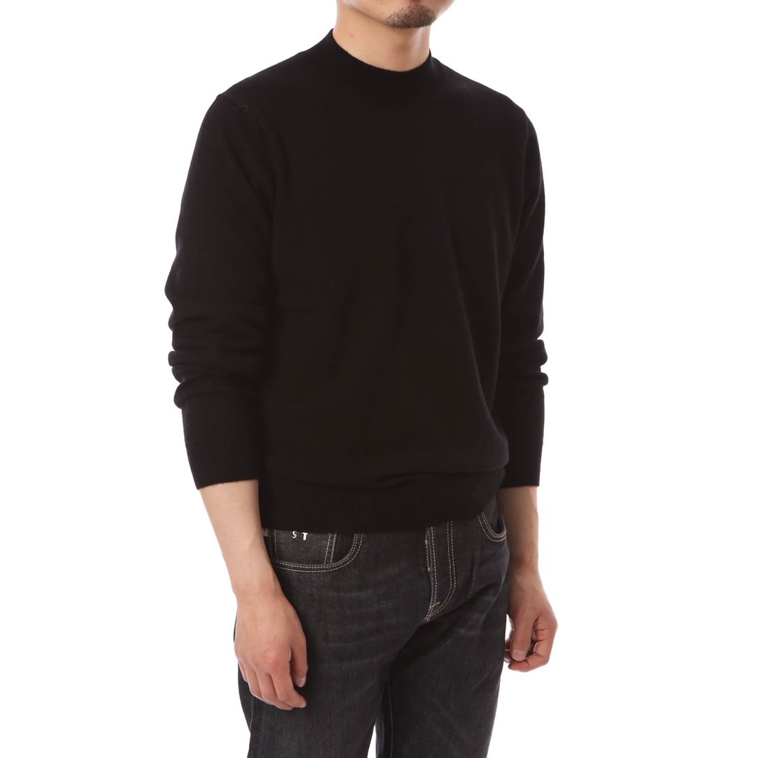 Cashmere Blended Mockneck Knit Black