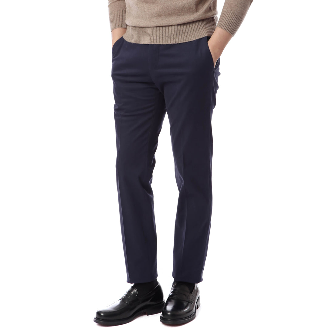 ELEGANCE. Slim Fit Muro Chino Pants (Navy)