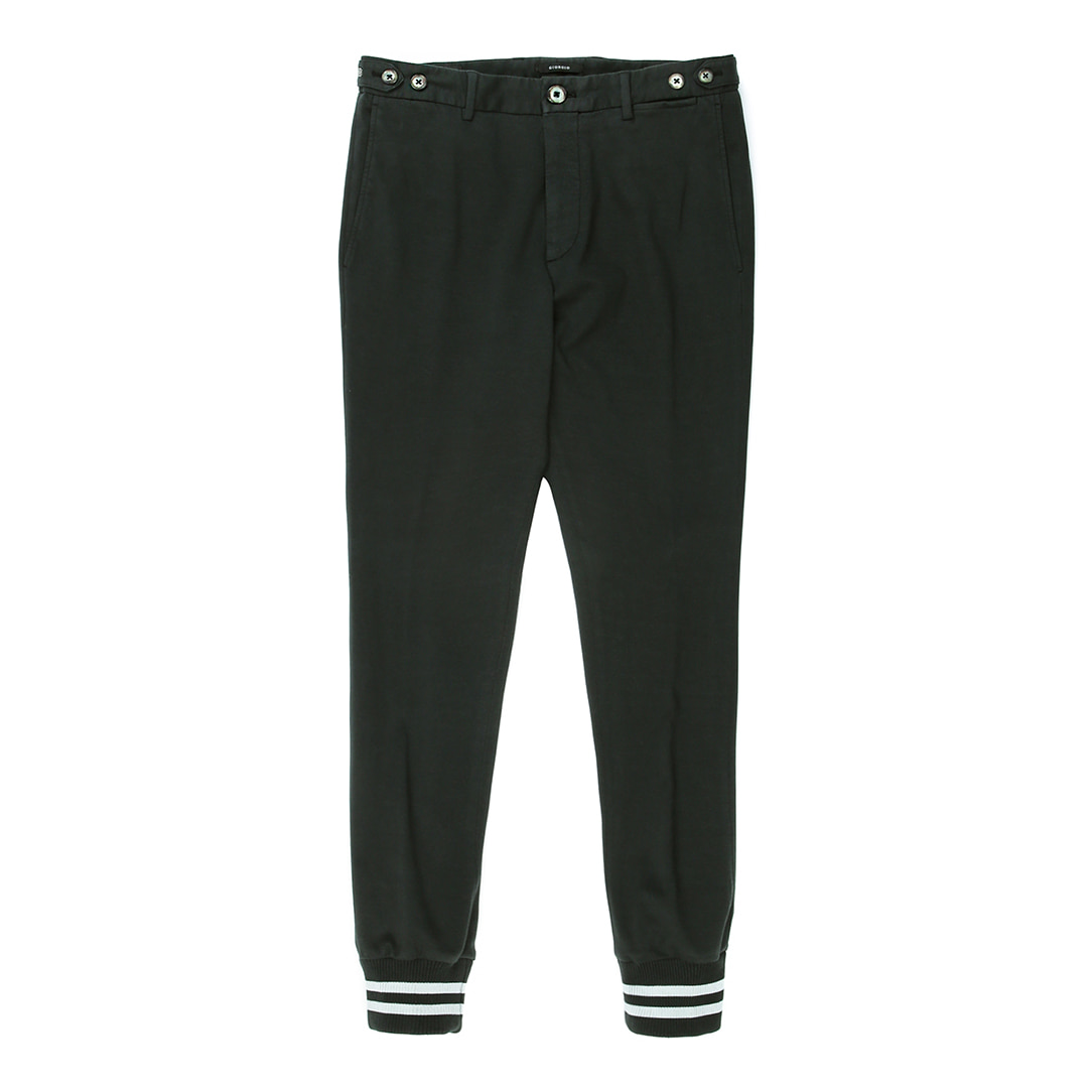 Capsule Collection.  Jogger Mix Dark Green Pants