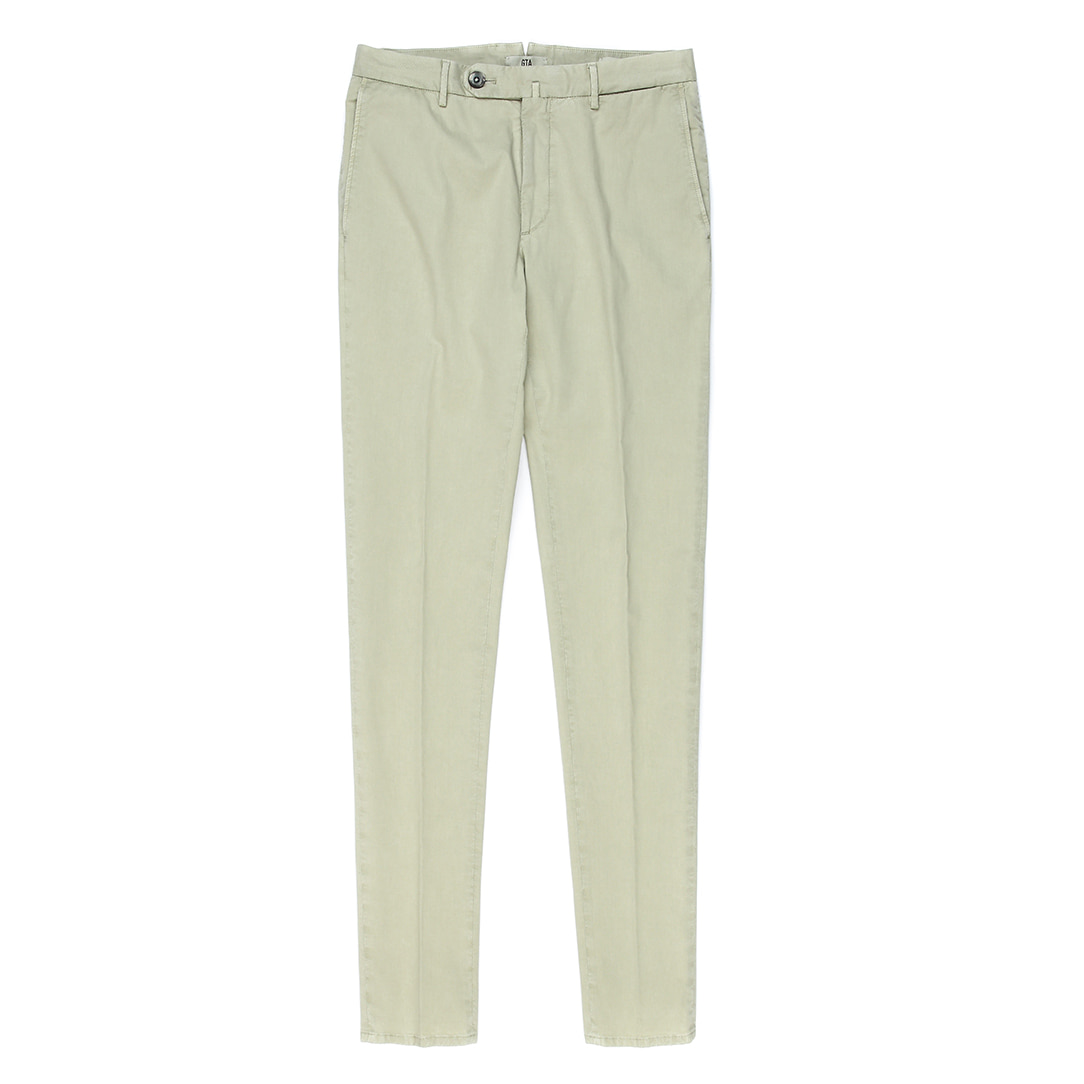 OTTOCENTO SL.  Yellowbeige Cotton Slim Pants