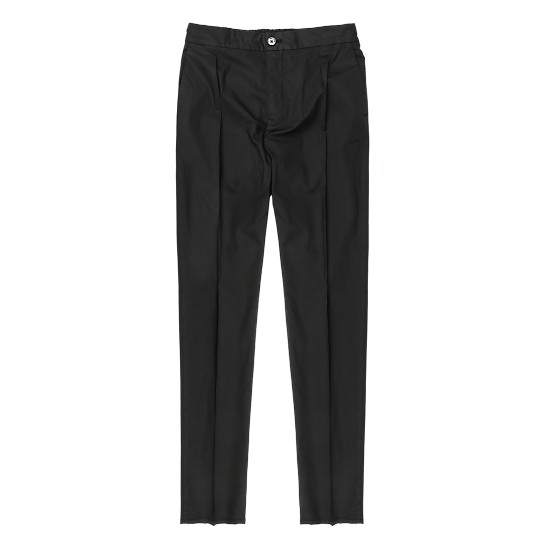 DAVIDE.  String Casual Black Pants