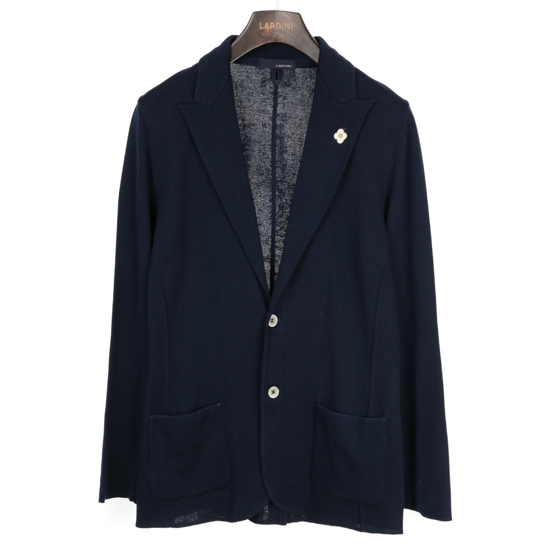 Classy Single Navy Knit Jacket