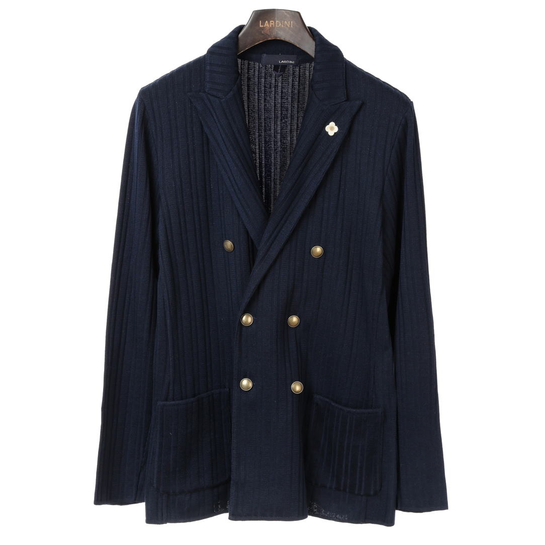 Navy Double Sensual Knit Jacket