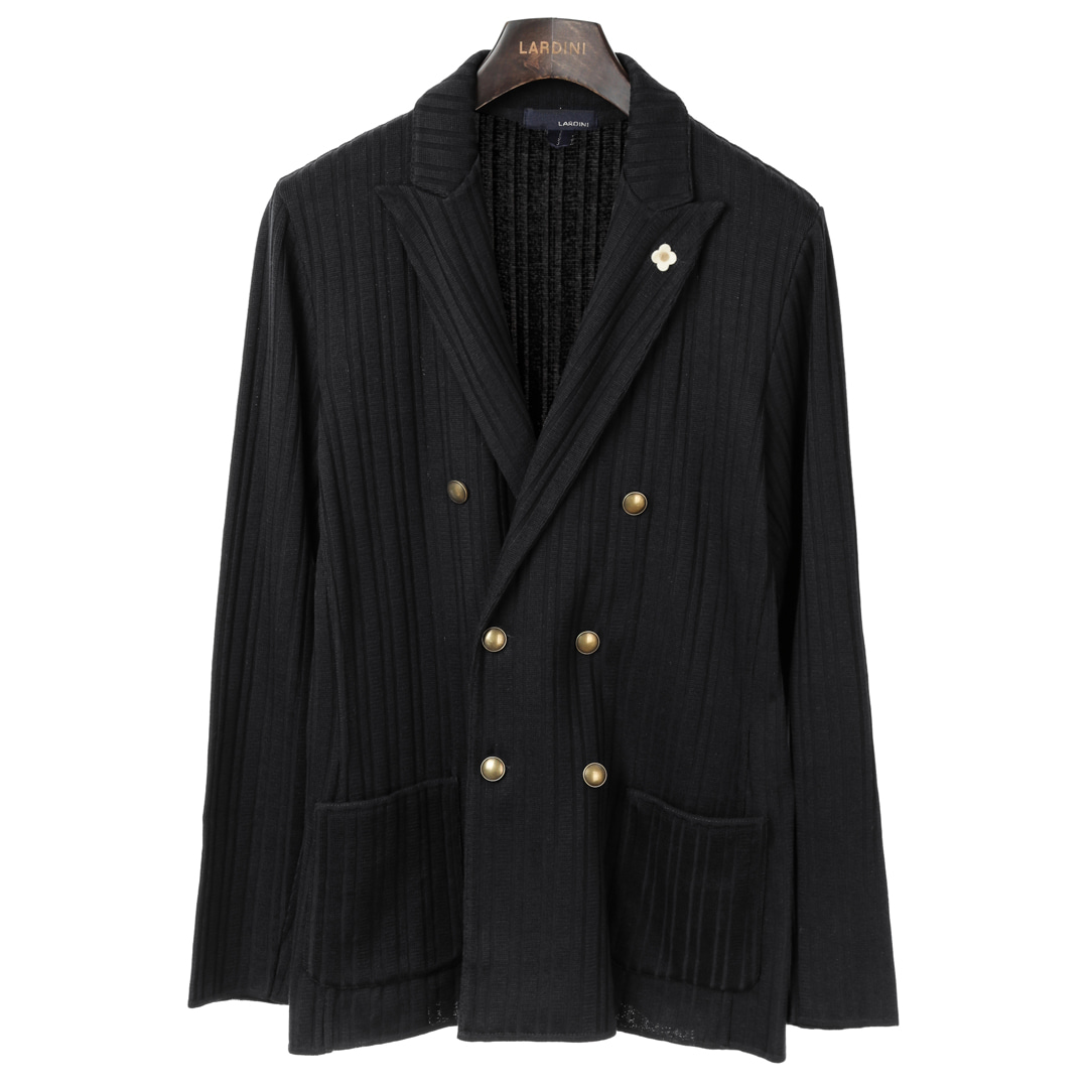 Black Double Sensual Knit Jacket