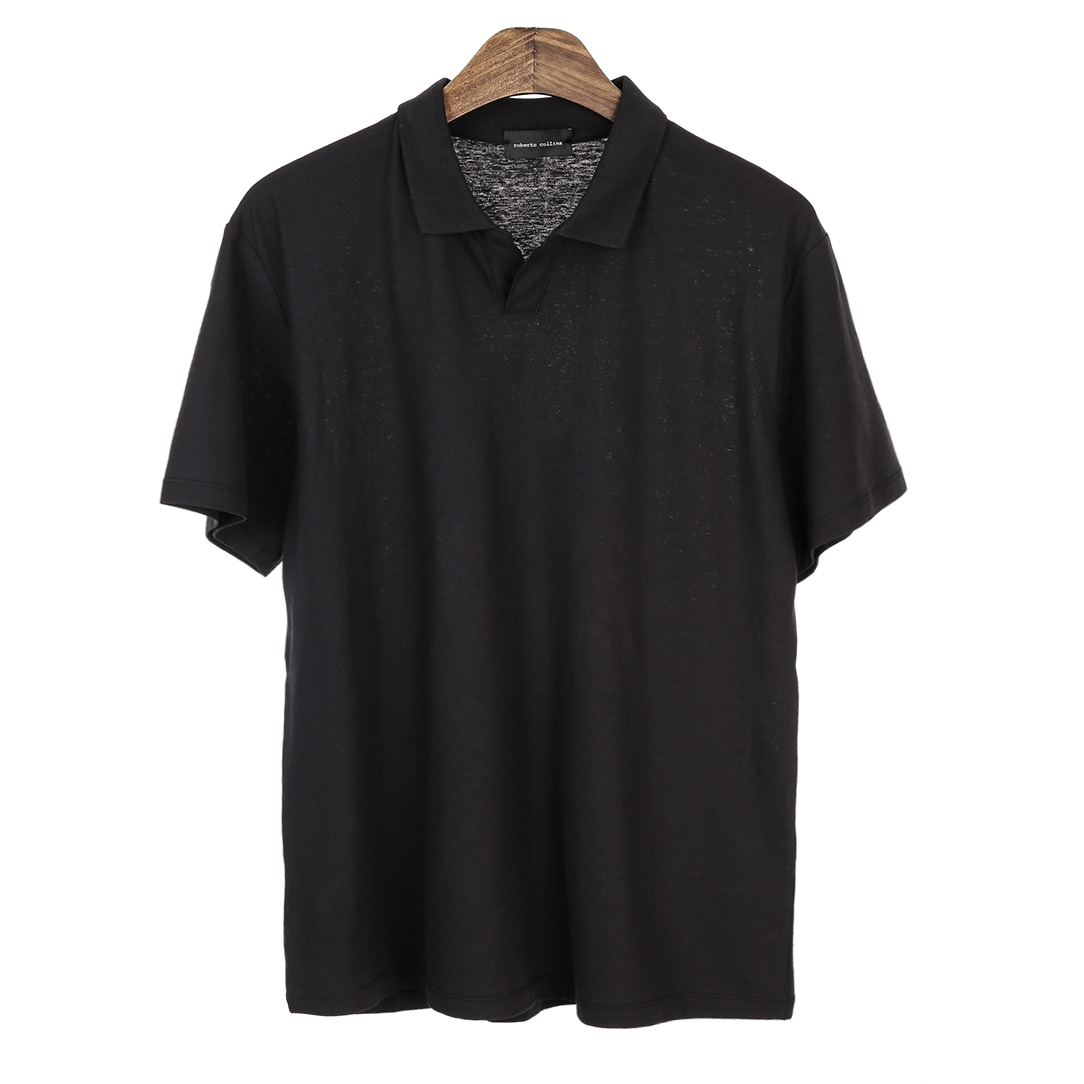 UNSCREW. Buttonless Pique Shirts(Black)