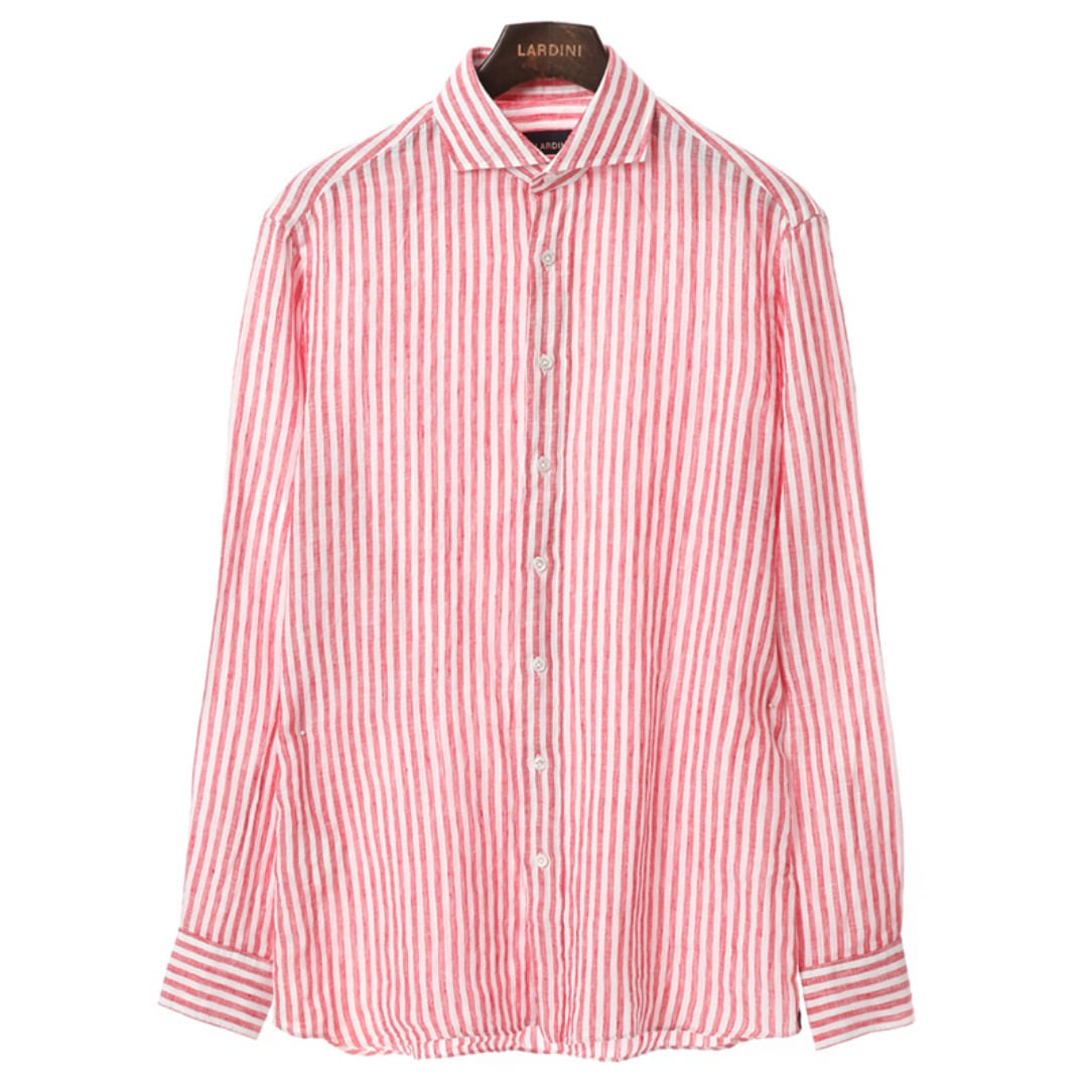 Stout Red Stripe Linen Shirts