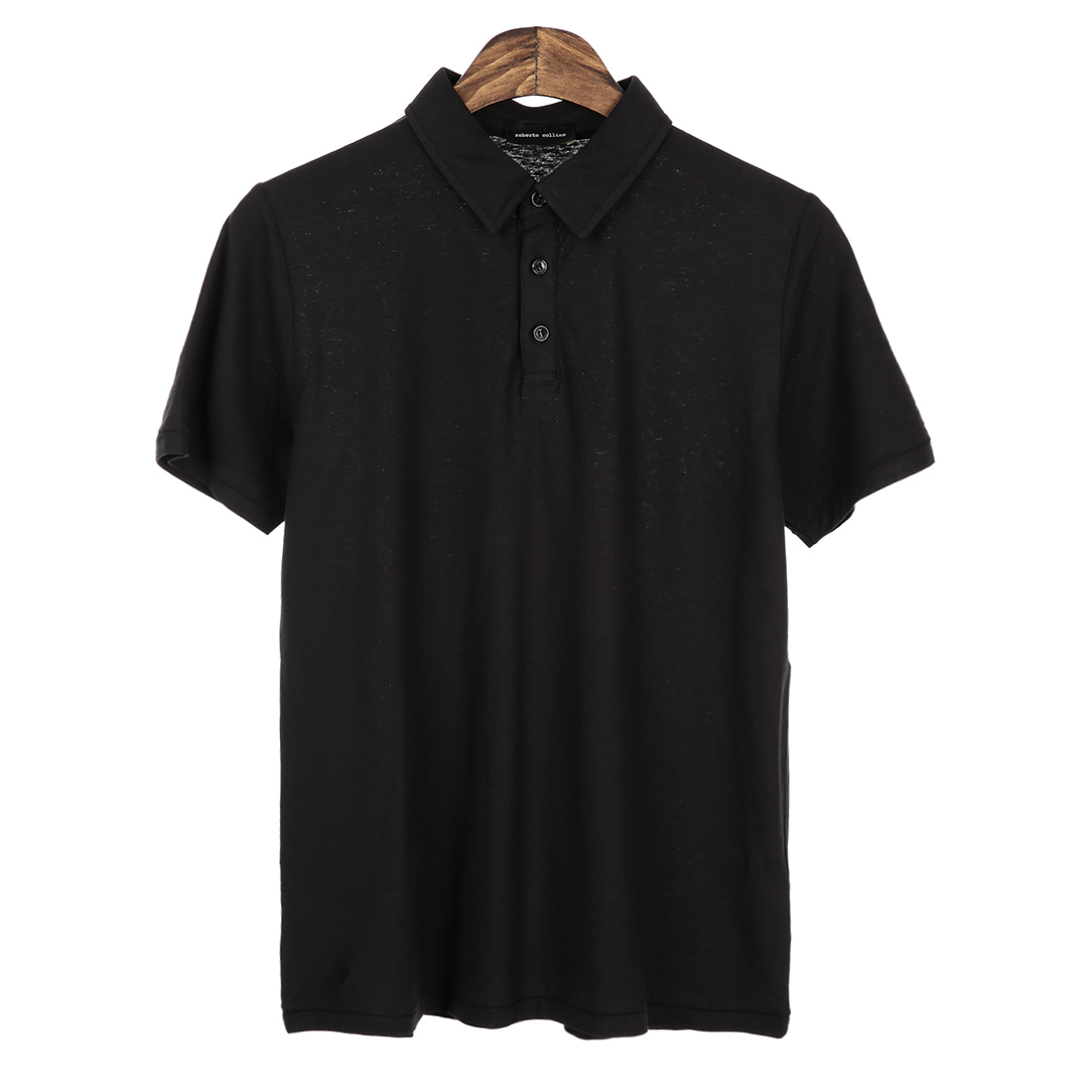 Standard Short Pique Shirts(Black)