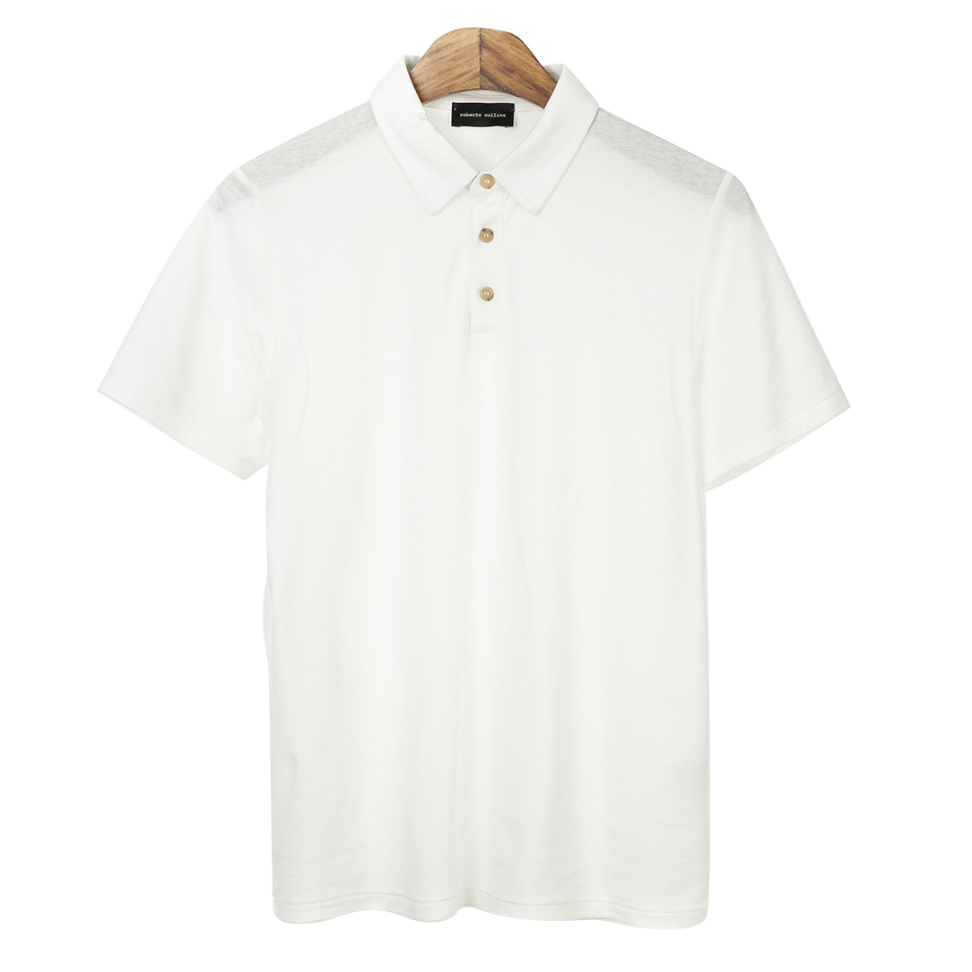 Standard Short Pique Shirts(White)