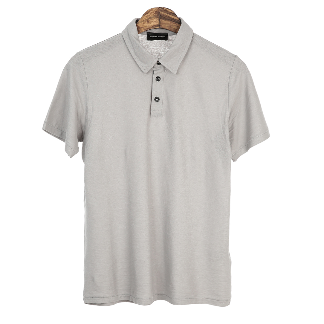 Standard Short Pique Shirts(LightGrey)