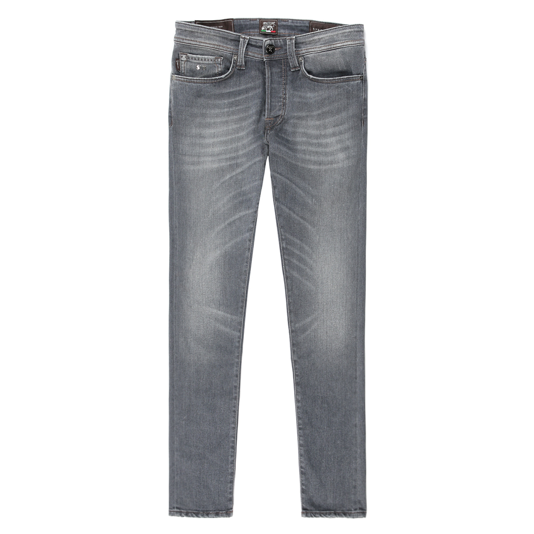 HERITAGE.9E06 Destroyed Gray Jeans(19-80)