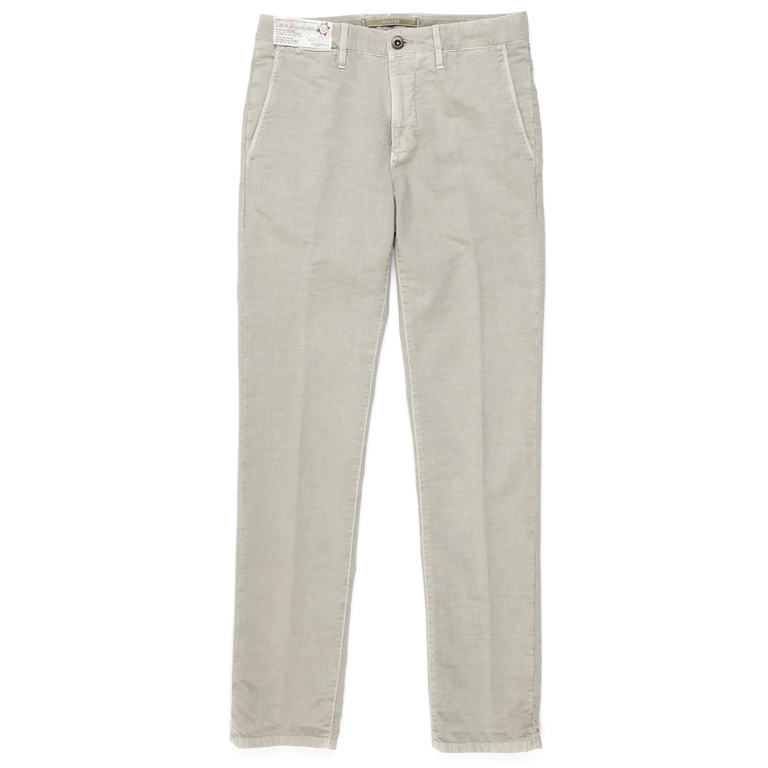 Pattern36 .Slim Fit Slacks Cotton Pants (Beige)
