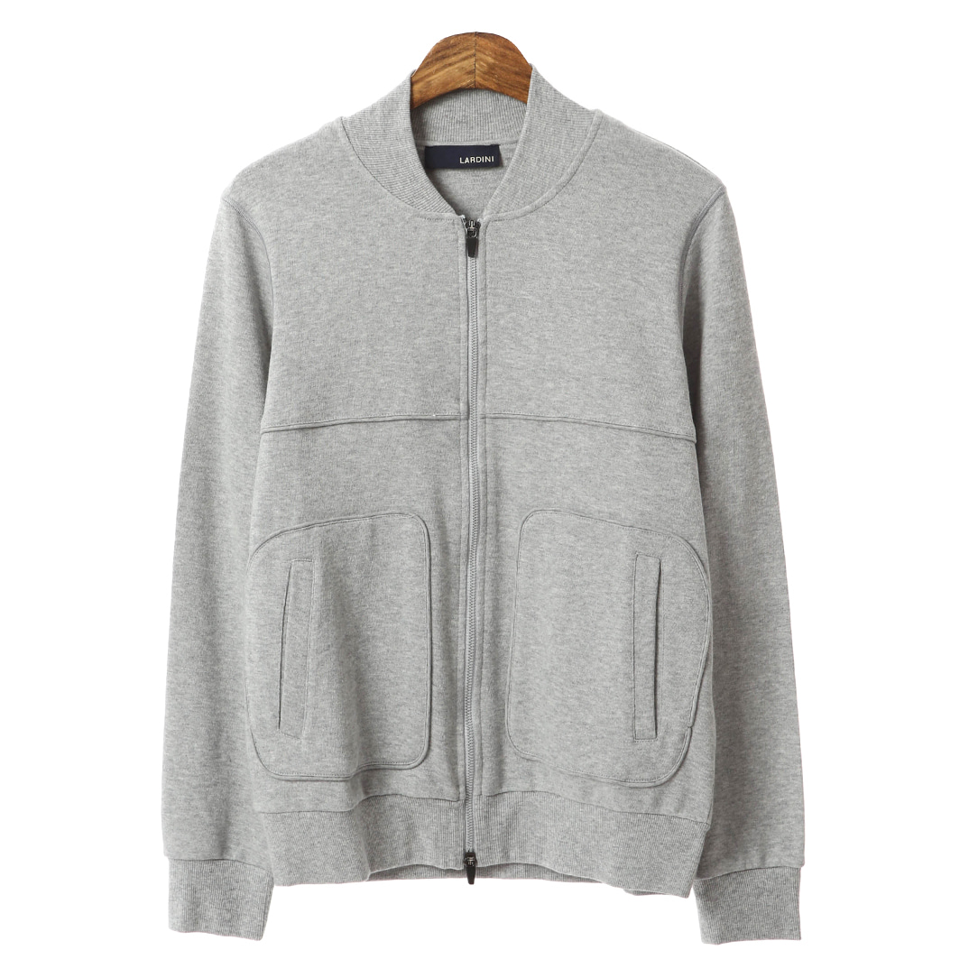Casual Line Gray Zip Up Blouson