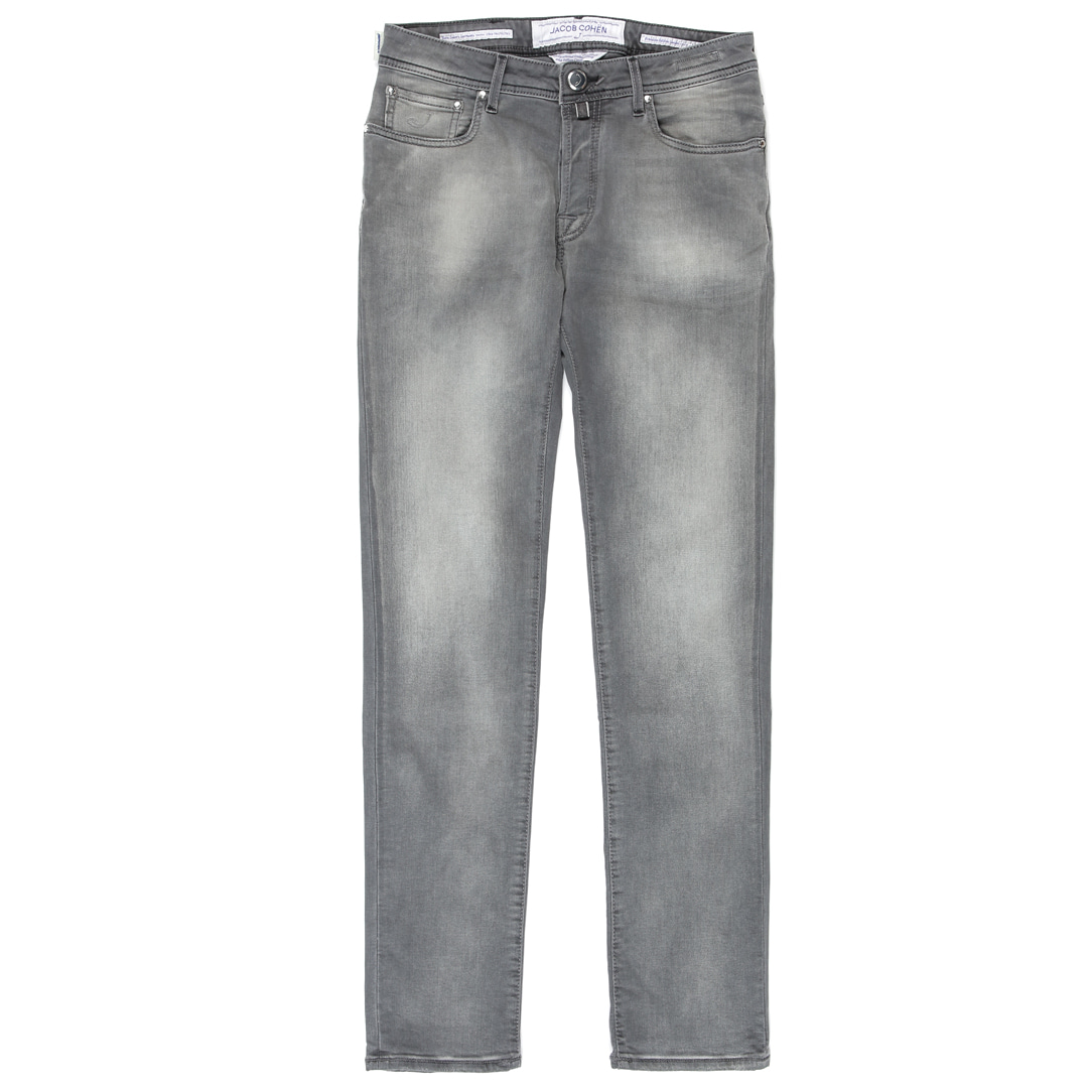 J688.LUNATIC. Steel Logo Gray Denim