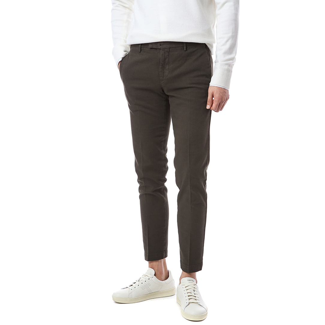 Hepcat. Skinny Fit. Net Stretch Washed Pants (DarkBrown)