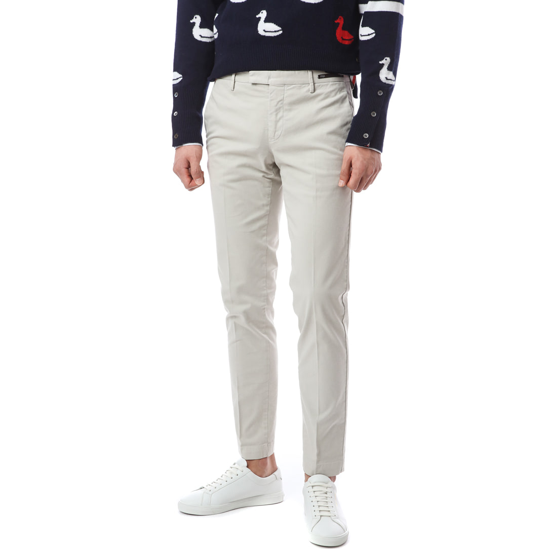 Hepcat. Skinny Fit. Crop Chino Pants (Ivory)